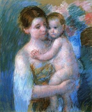 Reproduction oil paintings - Mary Cassatt - Mother Holding Her Baby