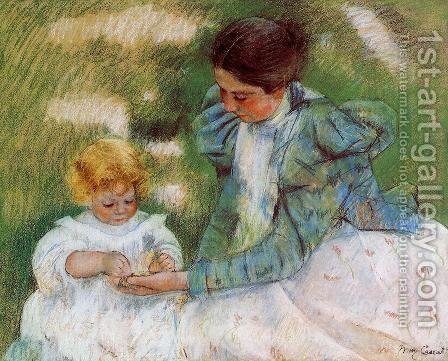 Mary Cassatt: Mother Playing With Her Child - reproduction oil painting