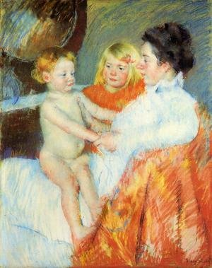 Reproduction oil paintings - Mary Cassatt - Mother  Sara And The Baby
