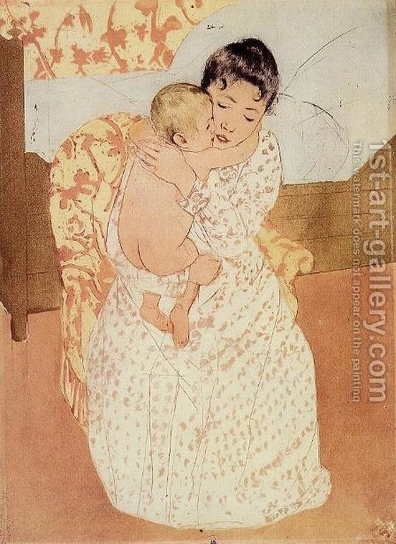 Mary Cassatt: Nude Child - reproduction oil painting