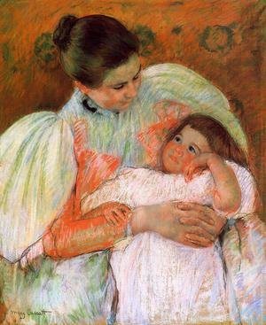 Reproduction oil paintings - Mary Cassatt - Nurse And Child