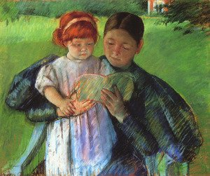 Reproduction oil paintings - Mary Cassatt - Nurse Reading To A Little Girl