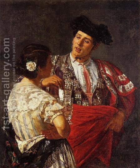 Offering The Panel To The Bullfighter by Mary Cassatt - Reproduction Oil Painting