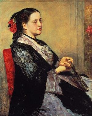 Reproduction oil paintings - Mary Cassatt - Portrait Of A Lady Of Seville