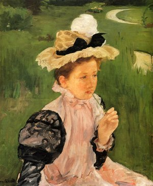 Reproduction oil paintings - Mary Cassatt - Portrait Of A Young Girl