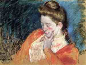 Reproduction oil paintings - Mary Cassatt - Portrait Of A Young Woman
