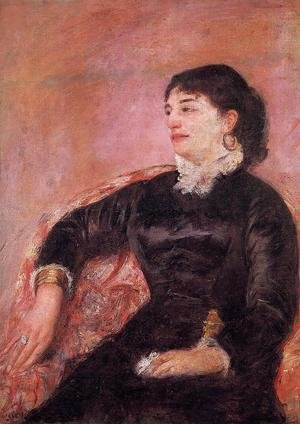Reproduction oil paintings - Mary Cassatt - Portrait Of An Italian Lady