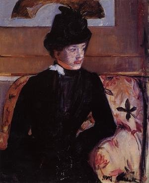 Reproduction oil paintings - Mary Cassatt - Portrait Of Madame J Aka Young Woman In Black