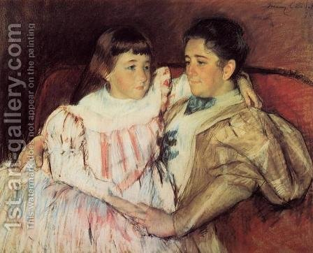 Mary Cassatt: Portrait Of Mrs Havemeyer And Her Daughter Electra - reproduction oil painting