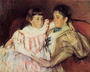 Reproduction oil paintings - Mary Cassatt - Portrait Of Mrs Havemeyer And Her Daughter Electra