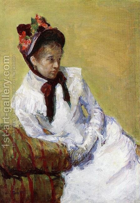 Mary Cassatt: Portrait Of The Artist - reproduction oil painting