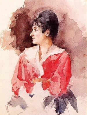 Reproduction oil paintings - Mary Cassatt - Profile Of An Italian Woman