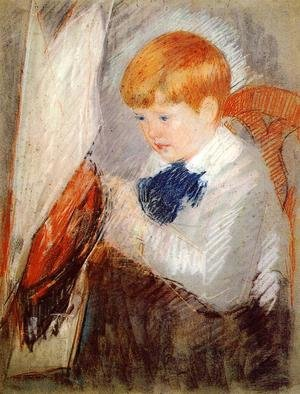 Reproduction oil paintings - Mary Cassatt - Robert And His Sailboat