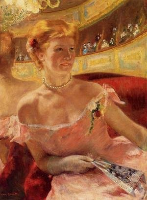 Reproduction oil paintings - Mary Cassatt - Woman In A Loge