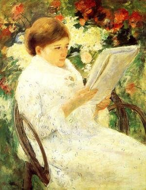 Reproduction oil paintings - Mary Cassatt - Woman Reading In A Garden