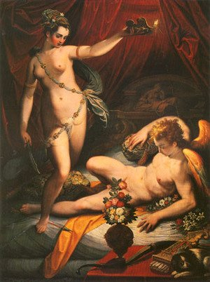 Mannerism painting reproductions: Amor and Psyche