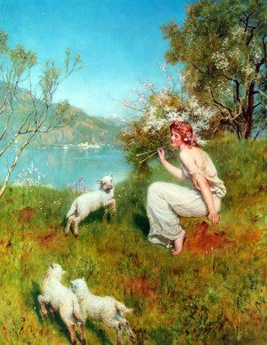 Reproduction oil paintings - John Maler Collier - Spring