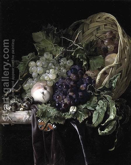 Fruit Still-Life 1677 by Willem Van Aelst - Reproduction Oil Painting