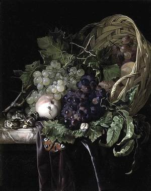 Reproduction oil paintings - Willem Van Aelst - Fruit Still-Life 1677