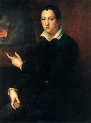 Mannerism painting reproductions: Portrait of a Young Man