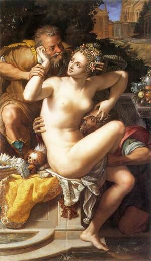 Mannerism painting reproductions: Susanna and The Elders