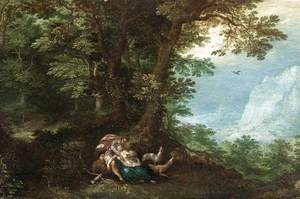 Mannerism painting reproductions: Extensive Wooded Landscape with Cephalus and Procris