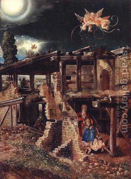Nativity 1513 by Albrecht Altdorfer - Reproduction Oil Painting