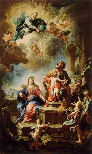 Famous paintings of The Holy Family: Rest on the Flight to Egypt 1737