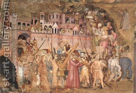Christ Bearing the Cross to Calvary 1365 by Andrea Bonaiuti da Da Firenze - Reproduction Oil Painting
