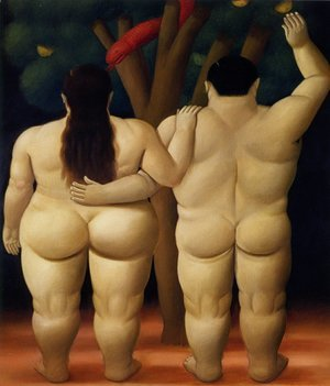 Fernando Botero reproductions - Adam and Eve
