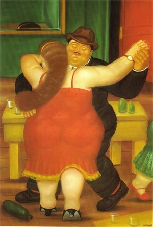 Reproduction oil paintings - Fernando Botero - Dancing Couple