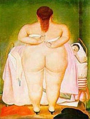 Reproduction oil paintings - Fernando Botero - The Morning After