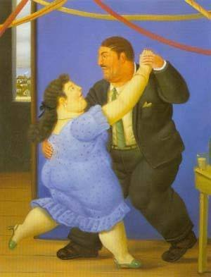 Famous paintings of Couples: Dancers 1997