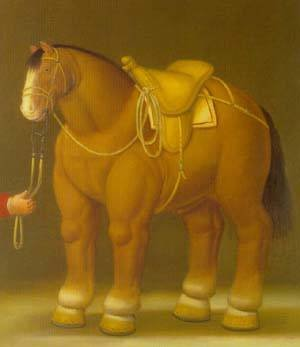 Reproduction oil paintings - Fernando Botero - Horse 1992