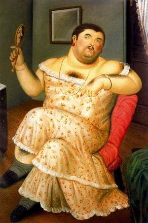 Reproduction oil paintings - Fernando Botero - Melancholia 1989