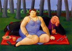 Reproduction oil paintings - Fernando Botero - Picnic 1998
