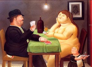 Reproduction oil paintings - Fernando Botero - The Card Player 1988