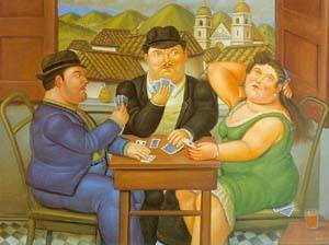 Famous paintings of Cafes & Bistros: The Card Player 1996