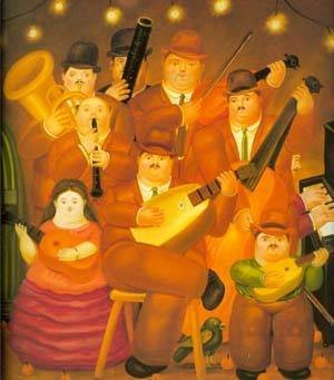 Reproduction oil paintings - Fernando Botero - The Musicians 1979
