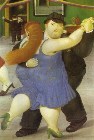Famous paintings of Couples: Dancers 1987