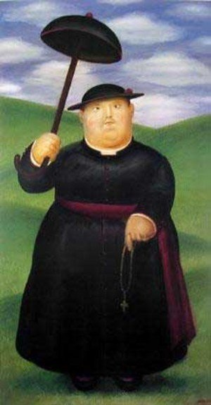 Reproduction oil paintings - Fernando Botero - Walk Through The Hills