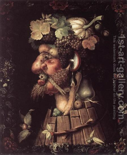 Giuseppe Arcimboldo: Autumn 1573 - reproduction oil painting
