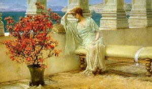 Reproduction oil paintings - Sir Lawrence Alma-Tadema - Her Eyes are with Her Thoughts, 1897