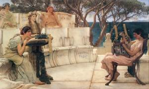 Reproduction oil paintings - Sir Lawrence Alma-Tadema - Sappho And Alcaeus 1881