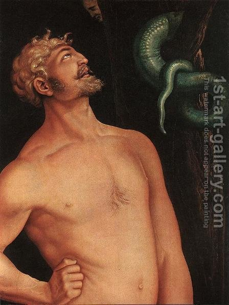 Adam (detail) 1524 by Hans Baldung  Grien - Reproduction Oil Painting