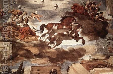 Aurora 1621, Fresco by Giovanni Francesco Guercino (BARBIERI) - Reproduction Oil Painting