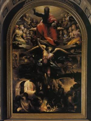Mannerism painting reproductions: Fall of the Rebel Angels c. 1528