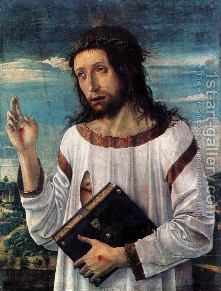 Blessing Christ c. 1460 by Giovanni Bellini - Reproduction Oil Painting
