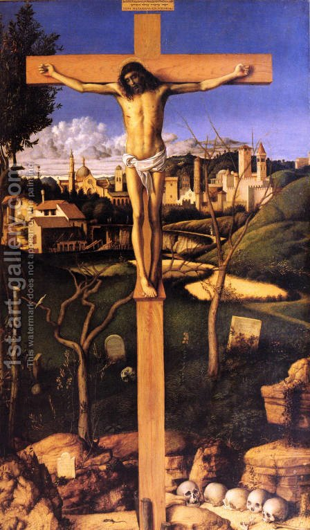 Crucifixion 1501-03 by Giovanni Bellini - Reproduction Oil Painting