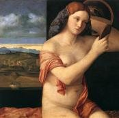 Oil painting reproductions - Renaissance - Early - Giovanni Bellini: Naked Young Woman in Front of the Mirror 1515